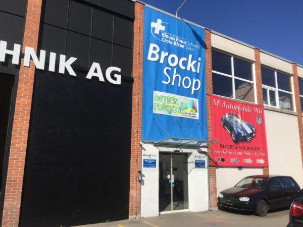 Blaues Kreuz BrockiShop Wil Aussenansicht